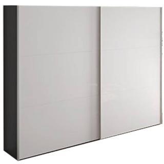 Dressing design FRIZZ de JUTZLER 200 cm, portes coulissantes en verre blanc