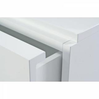 TemaHome GLARE meuble tv avec tiroirs et portes laqué blanc brillant