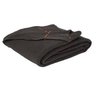 Plaid ZUIVER ASTER tricote gris