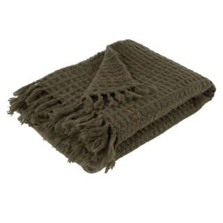 Plaid ZUIVER MIMOSA tricote vert