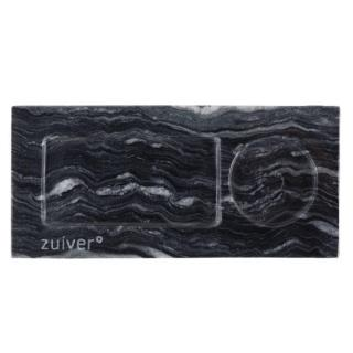 Plateau de service ZUIVER TRAY MARBLE en marbre gris