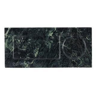 Plateau de service ZUIVER TRAY MARBLE en marbre vert