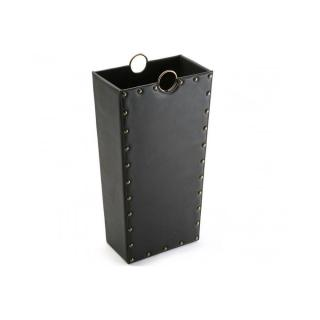 Porte parapluie IRVINE simili cuir noir