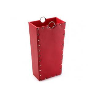 Porte parapluie IRVINE simili cuir rouge