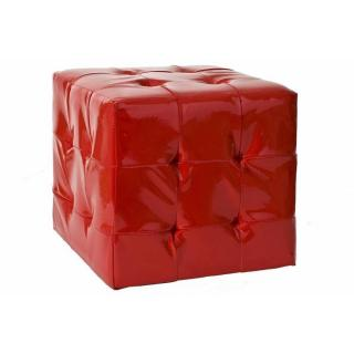 Pouf carré ZOE rouge