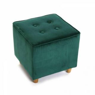 Pouf carré SABA velours vert