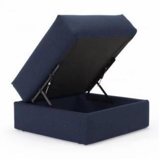 Pouf avec coffre CORNILA bleu
