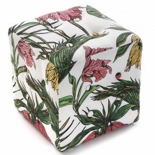 Pouf carré TROPICAL tissu flower