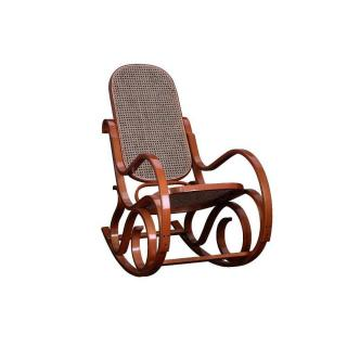 Rocking-chair canné FRANKLIN teinté miel