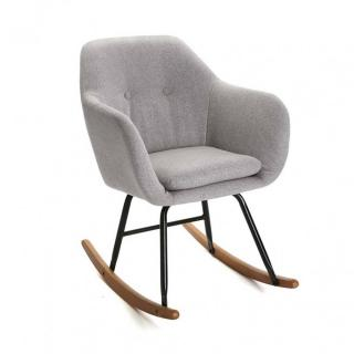 Rocking-chair GIANNA tissu gris