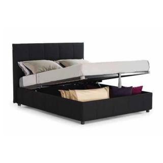 Lit Coffre Design ROMEO couchage 140*195cm, tête de lit capitonnée