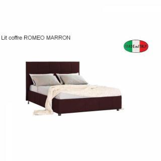 lits chambre literie lit coffre design romeo couchage 140 195cm t te de lit capitonn e. Black Bedroom Furniture Sets. Home Design Ideas