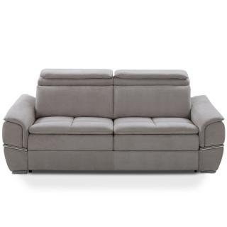Canapé lit SALTILLO convertible 140cm RAPIDO matelas 16cm nubucka gris clair
