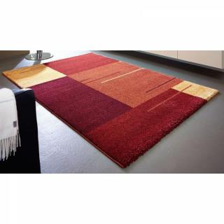 SAMOA DESIGN Tapis patchwork bordeaux et orange - 160x230 cm