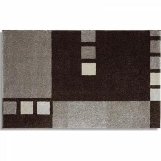 SAMOA DESIGN Tapis patchwork gris - 200x290 cm