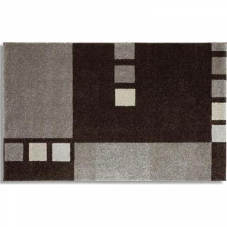 SAMOA DESIGN Tapis patchwork gris - 240x300 cm