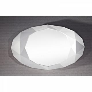 SAPHIR Miroir mural design en verre couleur blanc eclat