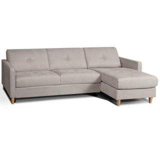 Canapé d'angle SCANDINAVE matelas 14cm système rapido sommier lattes 160cm RENATONISI