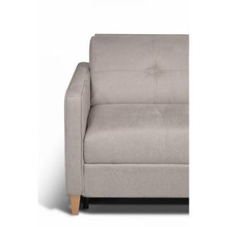 Canapé d'angle SCANDINAVE matelas 14cm système express sommier lattes 120cm RENATONISI