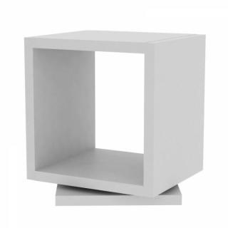 SHELL chevet design rotatif blanc mat 1 niveau