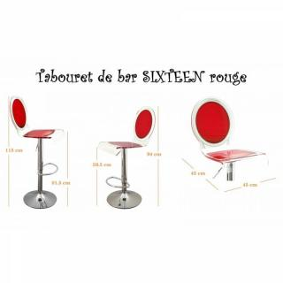tabouret de bar design tendance retro au meilleur prix tabouret chaise de bar sixteen rouge. Black Bedroom Furniture Sets. Home Design Ideas