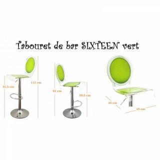 tabouret de bar design tendance retro au meilleur prix tabouret chaise de bar sixteen vert. Black Bedroom Furniture Sets. Home Design Ideas