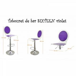 tabouret de bar design tendance retro au meilleur prix tabouret chaise de bar sixteen violet. Black Bedroom Furniture Sets. Home Design Ideas