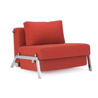 Fauteuil design SOFABED CUBED CHROME Mixed Dance_Burned Orange convertible lit 200*96 cm