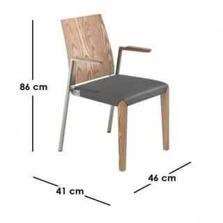 chaise design ergonomique et stylis e au meilleur prix solar chaise design en bois et m tal. Black Bedroom Furniture Sets. Home Design Ideas