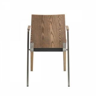 destockage promotions solar chaise design en bois et m tal avec bras assise rev tement. Black Bedroom Furniture Sets. Home Design Ideas