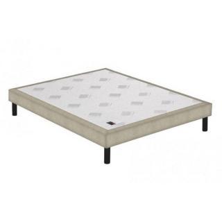 Sommier tapissier EPEDA armuré beige naturel confort ferme à lattes longueur couchage 190cm