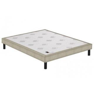 Sommier tapissier EPEDA armuré beige naturel confort medium 3 zones longueur couchage 190cm