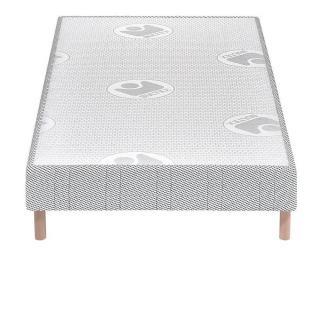 BULTEX Sommier tapissier confort ferme 70*190cm avec pieds en bois vernis clair