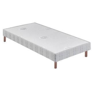 BULTEX Sommier tapissier confort ferme 80*200cm avec pieds en bois vernis clair