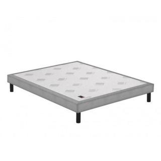Sommier tapissier EPEDA piqué gris clair confort medium 3 zones longueur couchage 200cm