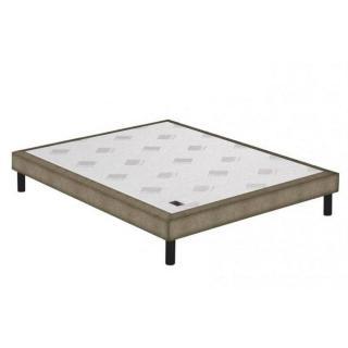 Sommier tapissier EPEDA armuré marron/or confort ferme à lattes longueur couchage 190cm