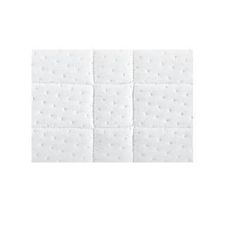 BULTEX Sommier double confort morphologique bi-lattes 2*90*200cm avec pieds en bois vernis clair