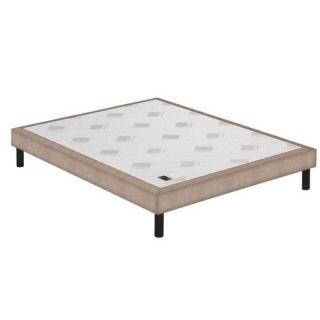 Sommier tapissier EPEDA armuré rose poudré confort medium 3 zones longueur couchage 200cm