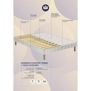 sommiers au meilleur prix bultex sommier tapissier confort ferme en tissu enduit noir fa on. Black Bedroom Furniture Sets. Home Design Ideas