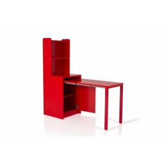 Meuble KOLTO  transformable en console extensible rouge