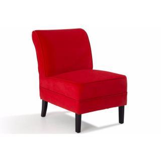 Petit fauteuil LOOSEN tissu rouge