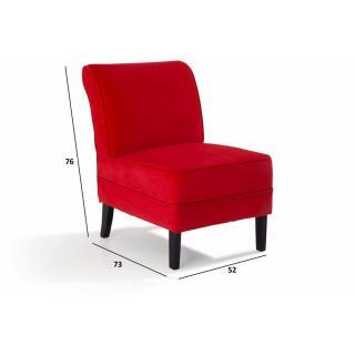 Fauteuils poufs design au meilleur prix petit fauteuil lounge tissu ro - Petit fauteuil rouge ...