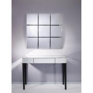 SOWHAT Ensemble console et miroir mural en verre