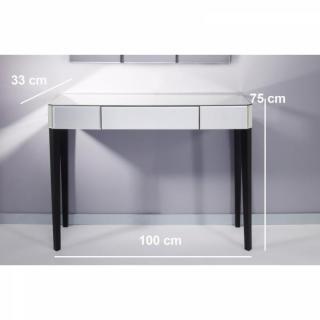 console design ultra tendance au meilleur prix sowhat ensemble console et miroir mural en verre. Black Bedroom Furniture Sets. Home Design Ideas