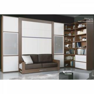 Assez Armoire lit escamotable avec canapé intégré au meilleur prix  FR56