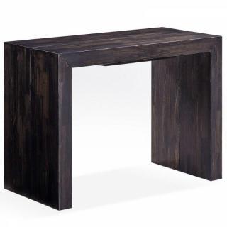 Bureaux tables et chaises console extensible sublimo brun moka 12 couverts - Console extensible massif ...