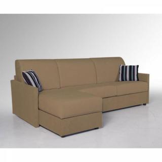 Canapé d'angle EXPRESS SUN accoudoirs fin matelas épais 16cm  140 cm méridienne coffre