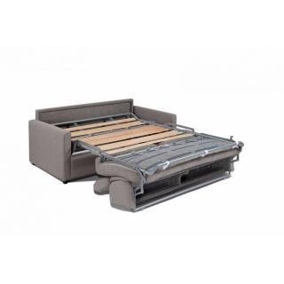 Canapé lit express SUN ELITE tweed gris anthracite sommier lattes 140cm assises et matelas 16cm  mémoire de forme
