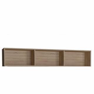 Surmeuble 3 niches de rangements pour armoire-lit 160 x 200 cm Hauteur 36 cm finition chêne naturel