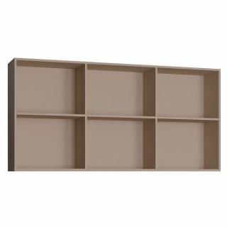 Surmeuble 6 niches de rangements pour lit escamotable horizontal 90 x 200 cm Hauteur 106 cm finition taupe mat